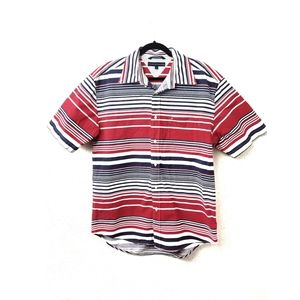 Tommy Hilfiger Button Down Striped Polo Shirt